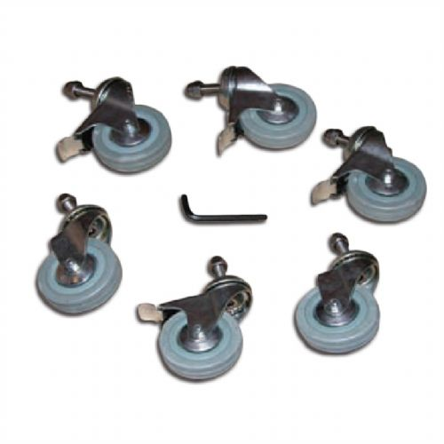 Plastica Slidelock Reel Castors - Pack of 6 Castors